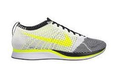 Nike Flyknit Racer Sail/Volt/Black: If your New Year's resolution has anything to do with getting back in shape, give yourself a bit of an edge with a new pair of shoes. Nike has just in. Nike Waffle Racer, Nike Free, Nike Shoes Cheap, Nike Shoes Outlet, Cheap Nike, Nike Flyknit Racer, Nike Store, Wholesale Shoes, Clothes Horse
