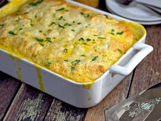Magic Chicken Pie | For a simply magical meal, make this delicious cross between a chicken casserole and a chicken pot pie.