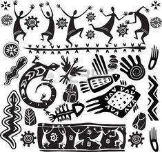 Illustration of Primitive art design elements vector art, clipart and stock vectors. Arte Tribal, Tribal Art, Art Design, Design Elements, Primitive Kunst, Art Pariétal, Kunst Der Aborigines, Afrique Art, Tribal Patterns