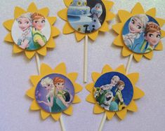Frozen Fever cupcake toppers