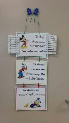 Disney behavior chart for the classroom