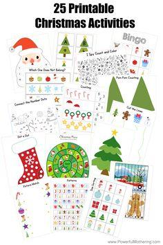 25 Printable Christmas Activities