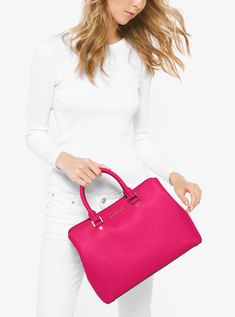 6748c665c3c2 Buy MICHAEL Michael Kors Mercer Leather Messenger Bag Online at ...