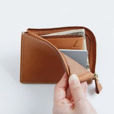 Zipped leather wallet / coin purse | for inspiration