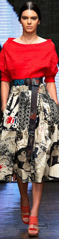 Donna Karan Spring 2015 Ready-to-Wear Collection Fashion Prints, Love Fashion, High Fashion, Fashion Looks, Womens Fashion, Fashion Design, Donna Karan, Casual Look, A Boutique