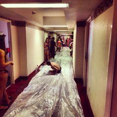 Hallway long slip 'n slide. TFM. I remember this in Havasu!!!
