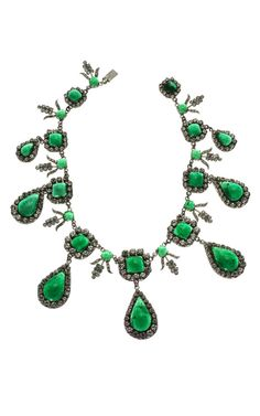 Schreiner Emerald + Diamante Necklace  House of Lavande, Palm Beach, Florida