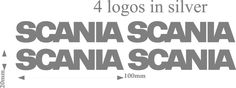 Scania HGV Truck  sticker decals for pods - glass - bodywork - decor - silver X4