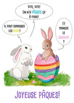 Joyeuses Pâques !     #illustration Cyann P.  #Pâques