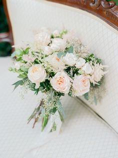 Rose and astilbe wedding bouquet: http://www.stylemepretty.com/2017/02/24/spring-pastel-wedding-inspiration/ Photography: Vitor Lindo - https://vitor-lindo.com/