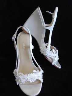 Lace Wedding Wedges Shoes   Brooke by YvesBellaBrides on Etsy, $160.00