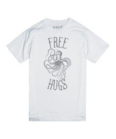 Skreened White Free Hugs Crewneck Tee | zulily   #streetstyle