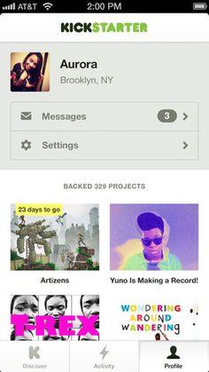 Kickstarter per iPhone: crowdfounding