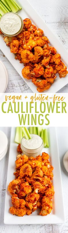 Looking for a healthy and delicious game day snack? Try these roasted cauliflower wings… aka roasted cauliflower buffalo bites with a creamy cashew dressing. Plus, they're absolutely delicious and easy to whip up. Vegan + gluten-free.