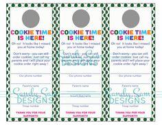 Printable Girl Scout Cookie door hanger by SandySamDesigns on Etsy