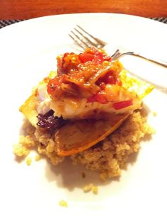 Chilean Sea Bass with Curried Quinoa