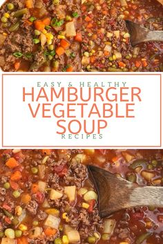 Find easy-to-make comfort food recipes like Healty recipes, dinner recipes and more recipes to make your fantastic food today. Hamburger Vegetable Soup, Hamburger Soup, Vegetable Soup Recipes, Frozen Vegetables, Mixed Vegetables, Healthy Drinks, Ground Beef, Food To Make, Dinner Recipes
