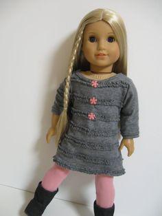 American Girl Doll Grey Ruffles by on Etsy American Girl Doll Costumes, American Doll Clothes, Ag Doll Clothes, Crochet Doll Clothes, Doll Clothes Patterns, Doll Patterns, American Girl Julie, American Girl Dress, Ag Clothing