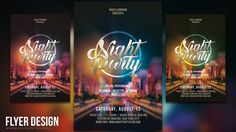 This tutorial will help you to design a night party flyers using Photoshop CC.