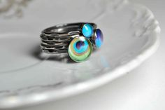 SIZE 65 Ready to ship PEACOCK Stacking by CameraSHYphotography, $75.00