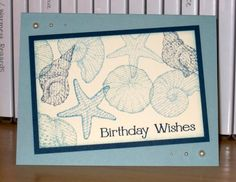 Birthday Shells by Christy S. - Cards and Paper Crafts at Splitcoaststampers