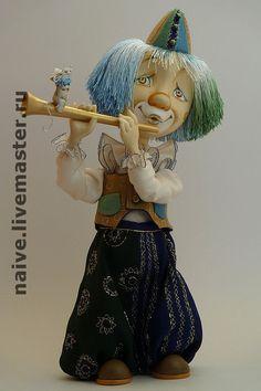"""Купить кукла """"Клоун"""" - авторская работа, сувениры и подарки, авторская кукла, коллекционная кукла"""