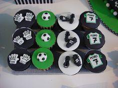 Soccer Birthday Cupcakes Football Theme Birthday, Soccer Birthday Parties, Soccer Theme, Football Themes, Soccer Party, Football Soccer, Soccer Cookies, Football Cupcakes, Soccer Cake