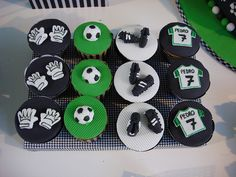 Soccer Birthday Cupcakes
