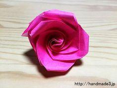 「立体のバラの折り方は、知っていますか?」 [ad#ad-1-ue] プレゼントの定番の花と言えば、 バラの花…