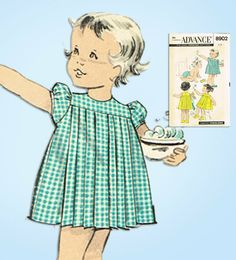 vintage childrens patterns in Sewing Mccalls Sewing Patterns, Simplicity Sewing Patterns, Vintage Sewing Patterns, Sewing Ideas, Baby Bonnet Pattern, Nightgown Pattern, Cute Baby Girl, Cute Babies, Baby Girls