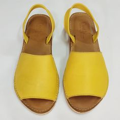 Costas Pavlidis by Il Tacco! Leather Sandals, Shoes Sandals, Yellow Leather, Clogs, Espadrilles, Handmade, Accessories, Fashion, Clog Sandals
