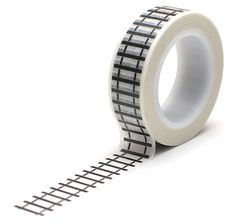 Black and White Railroad Tracks Washi Tape by QueenandCompany Polar Express Activities, Washi Tape Planner, Train Party, Decorative Tape, Planner Decorating, Tape Crafts, Paper Tape, Fuse Beads, Masking Tape