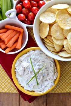 """best ever french onion dip"" with #popchips"