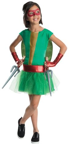 Kick bad guy butt in our deluxe Raphael Costume! Girls Teenage Mutant Ninja Turtles Raphael Costume Deluxe features a green tutu dress with glitter detail. Tutu Costumes Kids, Halloween Costumes For Girls, Adult Costumes, Halloween Ideas, Halloween Season, Movie Costumes, Funny Halloween, Costume Ideas, Costume D'halloween Fille