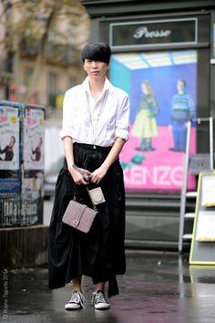 Grace Lee, Managing Editor,  Paris Street Style, PFW SS15