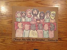 Jesus Ate With His Disciples/Last Supper Craft