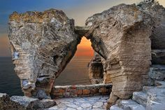 Нос Калиакра (Cape Kaliakra) in Kavarna, Bulgaria - (Bulgarian: Калиакра) is a long and narrow headland in the Southern Dobruja region of the northern Bulgarian Black Sea Coast. It also features the remnants of the fortified walls, water-main, baths and residence of Despot Dobrotitsa in the short-lived Principality of Karvuna's medieval capital. | Photo by Monika Georgieva - Photo 33295003 - 500px