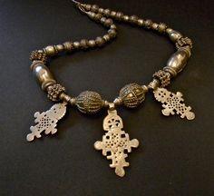 Sophisticated Tribal VINTAGE ETHIOPIAN CROSS  Silver от Luxethnik