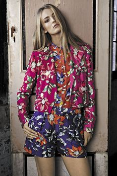 Floral separates in coordinating hues is a totally modern look for spring. <3 Ostwald Helgason!