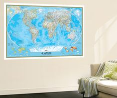 Amazon 99x164 world map huge wall mural art prints posters french classic world map gumiabroncs Gallery