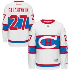 Alex Galchenyuk Montreal Canadiens Reebok 2016 Winter Classic Premier Jersey  - White Montreal Canadiens 8f3d088e5