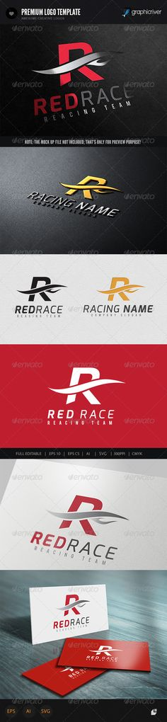 Red Racing Logo  #GraphicRiver         This logo design for all creative business. Consulting, Excellent logo,simple and unique concept.  Logo Template Features   AI and EPS (Illustrator 10 EPS) 300PPI  CMYK  100% Scalable Vector Files  Easy to edit color / text  Ready to print  Font information at the help file    If you buy and like this logo, please remember to rate it. Thanks!     Created: 4October13 GraphicsFilesIncluded: