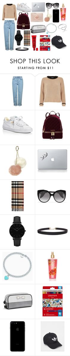 """""""Back To School Outfit"""" by anastasiazimonopoulos on Polyvore featuring Topshop, River Island, Puma, MICHAEL Michael Kors, Dorothy Perkins, Vinyl Revolution, Burberry, Alexander McQueen, CLUSE and Humble Chic"""