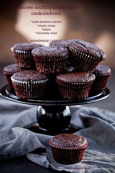 Moje Wypieki | Razowe muffiny podwójnie czekoladowe