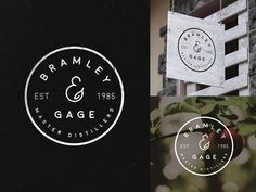 Logo Exploration - Bramley & Gage by Jess Caddick for Green Chameleon