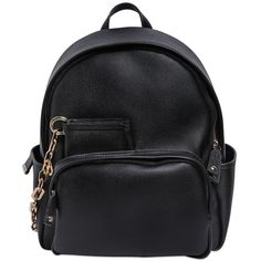 DSQUARED2 Coated Canvas Backpack (825 CAD) ❤ liked on Polyvore featuring bags, backpacks, accessories, black, backpacks bags, dsquared2, black zip bag, black chain bag y black zipper bag