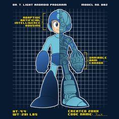 """Blue(Bomber)"" by Teeketch is $10 today at ShirtPunch.com (04/13). #tshirt #MegaMan #Rockman #Capcom #VideoGames"