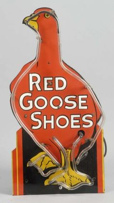Red Goose Shoes Neon Sign. : Lot 1442