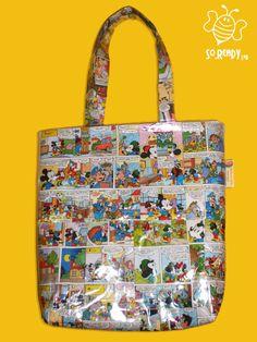 Comics Bag, Borsa Shopper con fumetti #riciclo #pvc #bag #comics #summer #fumetti di SoReadyLAB su Etsy, €90.00