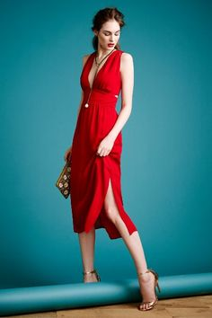A red dress is always a crowd favorite. If the thought of a red dress scares you, pick a classic cut. In-person or virtual Presenting Your Best You style sessions available. www.meredethmcmahon.com #imageconsulting #personalbranding